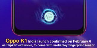 Oppo K1 India launch confirmed on February 6 as Flipkart exclusive