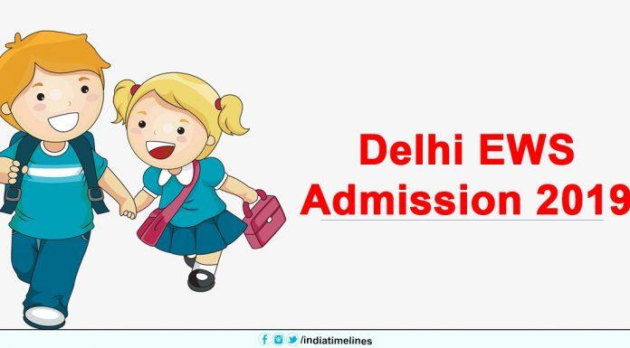 Delhi EWS Admission 2019