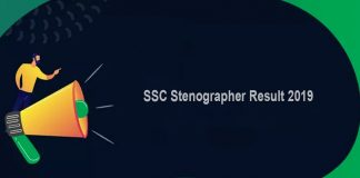 SSC Stenographer Result 2019