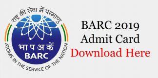 BARC Admit Card 2019