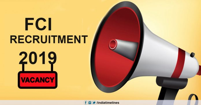FCI Recruitment 2019-20