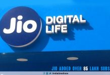 Jio adds 85 lakh subscribers in December