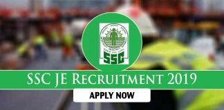 SSC JE 2019 recruitment