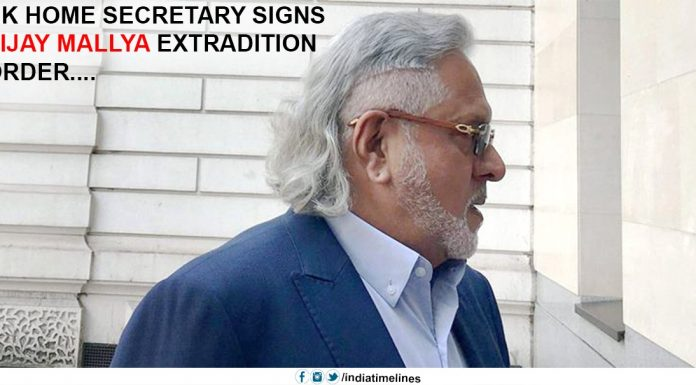 UK Home Secretary signs Vijay Mallya extradition order