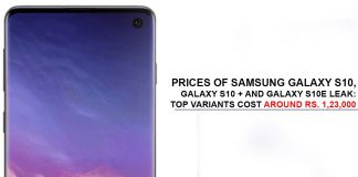 Prices of Samsung Galaxy S10 Leak
