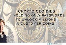 Crypto Exchange Founder dies with password