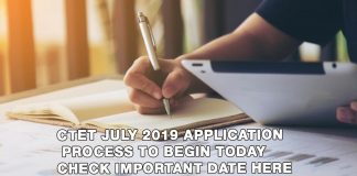 CBSE CTET 2019 July notification
