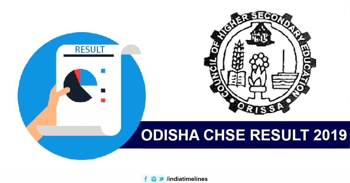 Odisha CHSE Result 2019, Odisha Board Plus 2 Result 2019