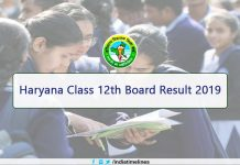 Haryana 12th Result 2019 Name Wise