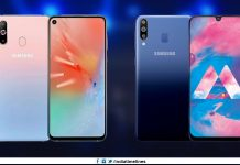 Samsung Galaxy A60 with punch-hole display