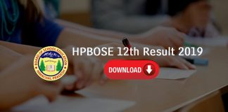 HPBOSE 12th Result 2019 Name Wise