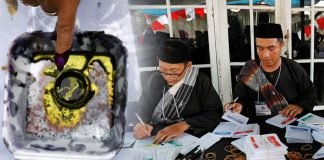 270 die counting votes by hand In Indonesia