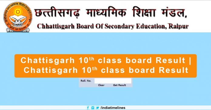 CGBSE 10th Result 2019 Name Wise