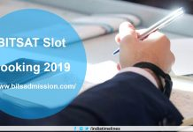 BITSAT Slot Booking 2019 Begins