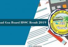 Goa Board 12th Result 2019