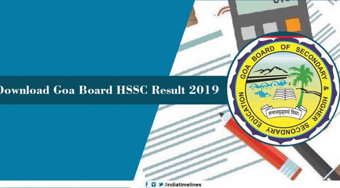 Goa Board 12th Result 2019