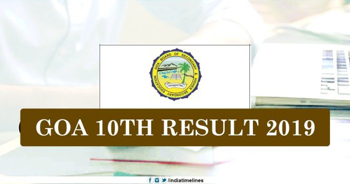Goa SSC Result 2019 Name Wise