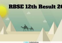 RBSE 12th Science/Commerce Result 2019
