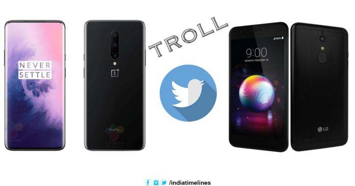 Xiaomi trolls OnePlus 7 Pro on twitter