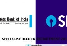 SBI Specialist Officer Recruitment 2019