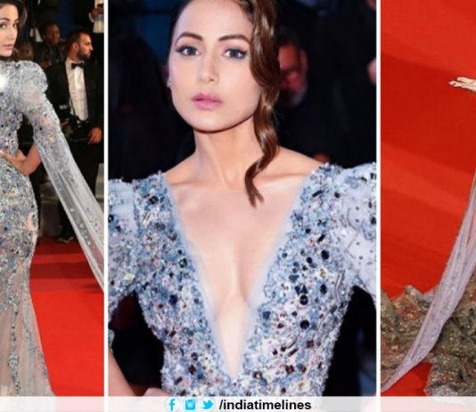 Hina Khan Makes Glamorous Debut at Cannes Red Carpet