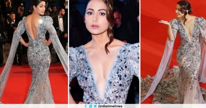 Hina Khan Makes Glamorous Debut at Cannes Red Carpet