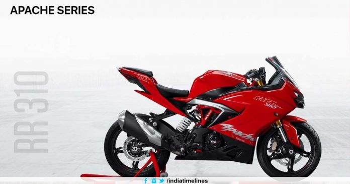 Upgraded TVS Apache RR 310 teased