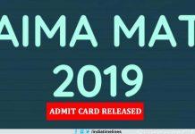 AIMA MAT 2019 Admit Card