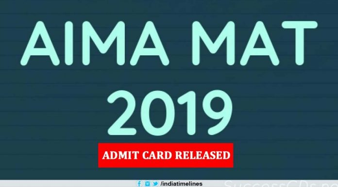 AIMA MAT 2019 Admit Card