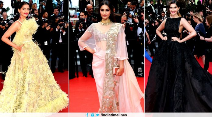 Sonam Kapoor Royal Look in Cannes Film Festival