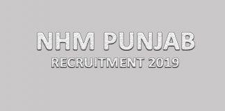 NHM Punjab Recruitment 2019