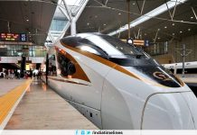 Superfast bullet train that run with the speed of airplane
