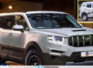 2020 Mahindra Scorpio SUV new gen spied testing - Launch Next Year