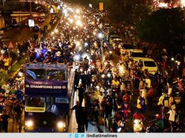 Mumbai Indians get a grand welcome