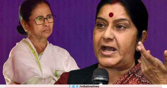 Sushma Swaraj Warns Mamata Banerjee After Outburst