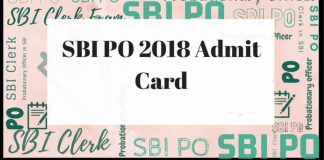 SBI PO PRE Admit Card 2019 Released