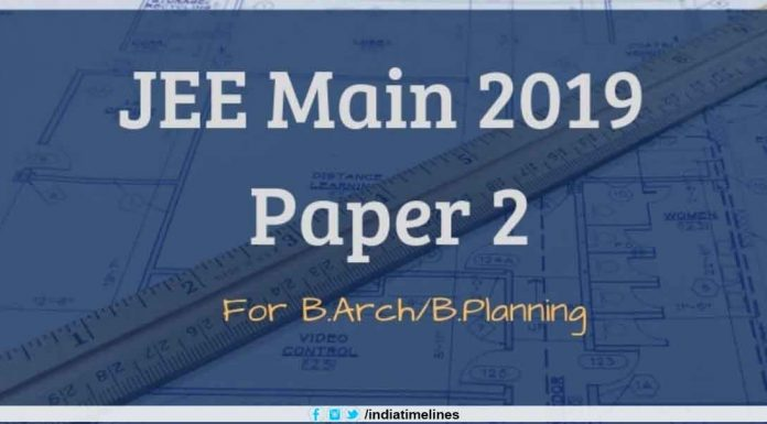 JEE Main Paper 2 Result 2019