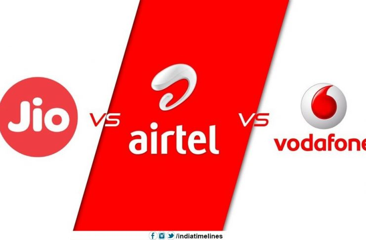 JIO is giving tough Fight to Airtel and Vodafone