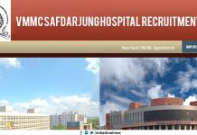 VMMC Safdarjung Hospital Recruitment 2019