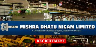 Mishra Dhatu Nigam Limited Midhani Recruitment 2019