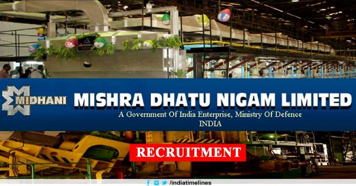 Mishra Dhatu Nigam Limited Midhani Recruitment 2019