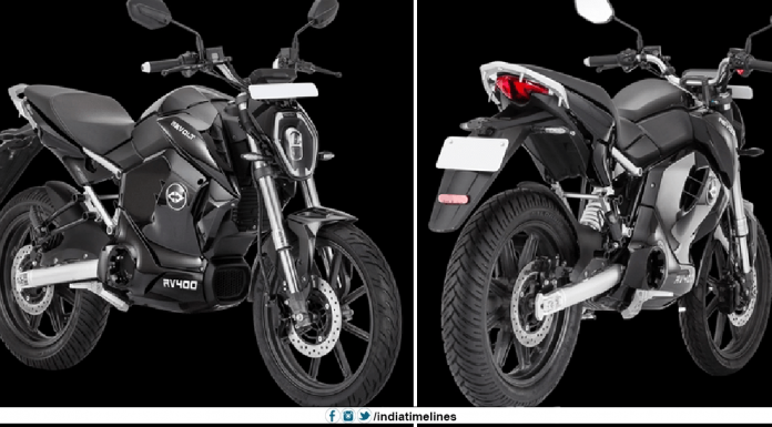 Revolt Unveils the RV 400 Electric Motorcycle in India
