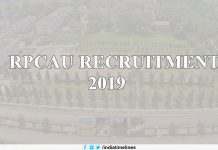 RPCAU Recruitment 2019