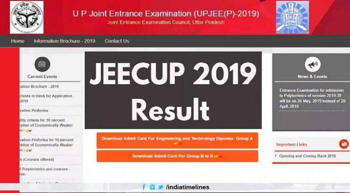 UP Polytechnic Result 2019