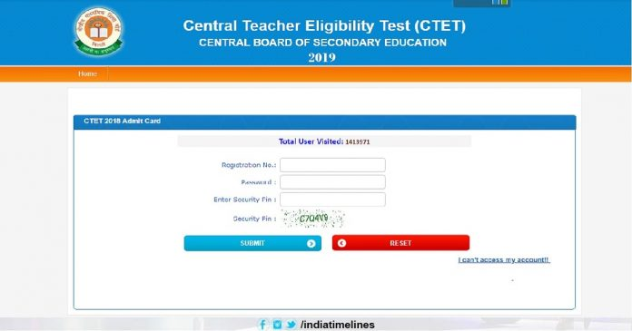 Download CTET Admit card 2019
