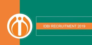 IDBI Recruitment 2019