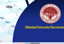 Allahabad University Recruitment 2019
