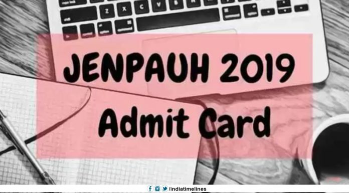 WB JENPAUH Admit Card 2019 Download