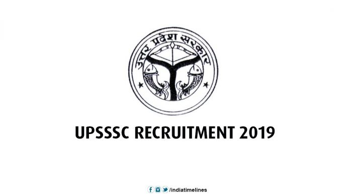 UPSSSC Recruitment 2019