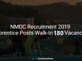 NMDC Recruitment 2019